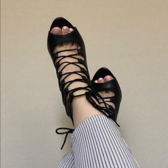 Zara Shoes - Zara lace up heels